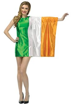 Rasta Imposta Flag Dress Ireland Green/White/Orange Adult 410 ** Click photo for even more information. (This is an affiliate link). White Country Dress, Country Dresses, Adult Costumes, Costumes For Women, Halloween Costumes, St Patrick's Day Dress, Irish Fancy Dress, Flag Dress, Cocktail Attire