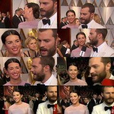 📸 Jamie Dornan Model Actor Fifty Shades Darker Freed Fifty Shades of Grey Oscars 2017 Millie Amelia warner