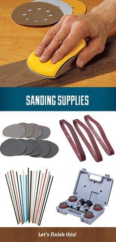 Sanding supplies - sanding discs, sanding belts, contour sanding, sanding drums, sandpaper and sanding tools.   #sanding #sandpaper #sandingdisc #belt #contour