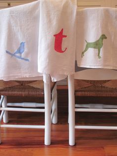 cottage and vine: Silhouette Dish Towels