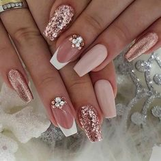 89 Bestes Design für Hochzeitsnägel 2019 Page 30 – Nageldesigns, You can collect images you discovered organize them, add your own ideas to your collections and share with other people. Cute Spring Nails, Cute Nails, My Nails, Dark Nails, Summer Nails, Glam Nails, Pretty Nail Art, Cool Nail Art, Elegant Nail Art
