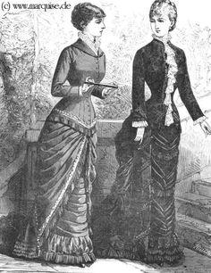 Jessamyn's Regency Costume Companion: 1880s gown