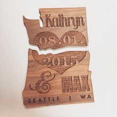 Puzzle piece save the date Design by: paper moxie Save The Date Designs, Fort Collins, Puzzle Pieces, Save The Date Cards, Bamboo Cutting Board, Special Events, Dates, Seattle, Dream Wedding