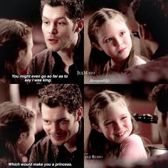 i think he does a brilliant job of being a dad her little smile is so cute // The Originals Klaus Hope