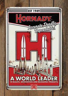 Hornady Vintage Tin Sign