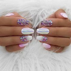 100 Spring Nail Art Designs for Women 2020 Gel Nail Art, Nail Manicure, Gel Nails, Acrylic Nails, Coffin Nails, Kids Manicure, Manicure Ideas, Fancy Nails, Cute Nails