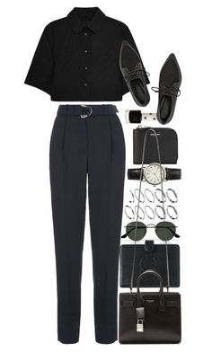 """Untitled #8453"" by nikka-phillips ❤ liked on Polyvore featuring ASOS, Maje, Ray-Ban, Yves Saint Laurent, Chanel, Topshop, FOSSIL, Alexander Wang, TIBI and women's clothing"