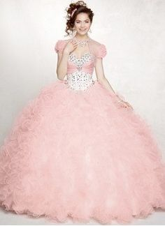 Ball-Gown Sweetheart Floor-Length Taffeta Organza Quinceanera Dress With Beading