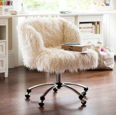 fauteuil yeti fourrure effet mouton am.pm | la redoute | déco ... - Chaise De Bureau Ado