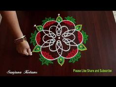 5 Dots Easy and beautiful Kambi Kolam. Chikku Muggu. Pandaga Chukkala Muggu - YouTube