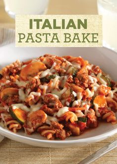 Make an easy Italian Pasta Bake for a delicious weeknight dinner this fall!