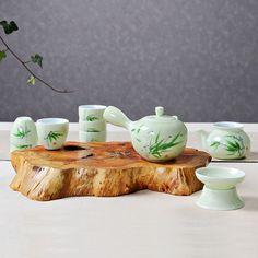 Dehua Porcelain- Celadon Ceramic Kung Fu Tea Set,Handmade Porcelain Chinese Gongfu Tea Servic by kongfuteaware on Etsy