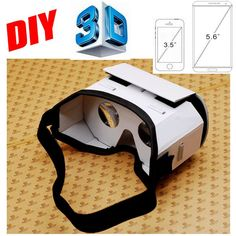 Google Cardboard 2.0 DIY 3D Carton VR Box Virtual Reality Glasses oculus rift for 3.5 inch - 5.5 inch iPhone Android Phone