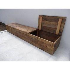 """Toftlund"" timber storage bench with lid - . ""Toftlund"" lumber storage bench with lid – PURE Wood Design Wooden Storage Bench, Lumber Storage, Bench With Storage, Storage Ideas, Storage Chest, Into The Woods, Diy Holz, Wooden Diy, Wood Design"