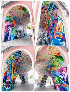 Street Art -                                                      Sabotaje al Montaje - Puente Serrador - New piece in Cruz de Tenerife - May 2014 #streetart