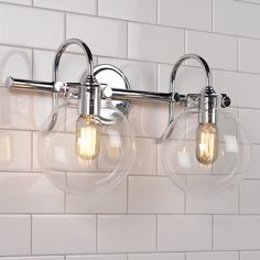 bathroom light globes. Retro Glass Globe Bath Light - 2 Bathroom Globes E