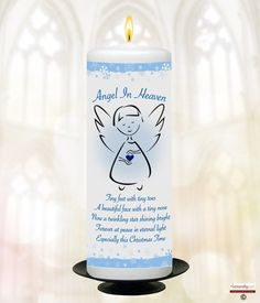 """""""When someone we love is in heaven there is a bit of heaven in our home"""" Beautiful Personalised Led memorial Candle for keeping them always close. We have them ready to go or you can Personalise it the choice is yours. Christening Favors, Christmas In Heaven, Personalized Candles, Angels In Heaven, When Someone, Twinkle Twinkle, Pillar Candles, Led, Beautiful"""