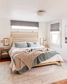 The DIY Headboard You All Wanted To Know About - Emily Henderson #DIY #bedroomdecor #homedesign Ikea Hacks, Home Bedroom, Bedroom Decor, Master Bedroom, Bedrooms, Bedroom Ideas, Bedroom Inspo, Timber Beds, Design Your Bedroom