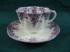 Shelley Dainty Mauve Cup and Saucer Set