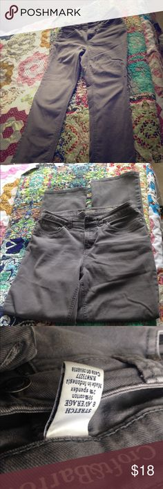Great grey jeans, straight leg. Croat and barrow straight leg grey jeans. Awesome for a casual office or school. No marks are rips. Great condition, very flattering! croft & barrow Pants Straight Leg