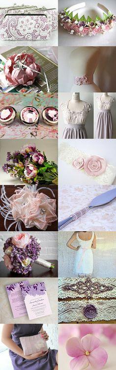 Pretty Pastels Etsy Treasury: Lilac & Blush