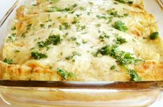 Creamy Green Chile Chicken Enchiladas. Last time I made some they were really similar to these except I used half n half instead of making the flour sauce.