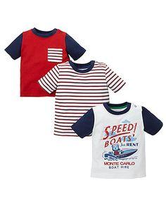 """Футболки """"Monte Carlo""""- 3 шт. - Футболки, майки, топи - Хлопчики (6 - 36 місяців) - Хлопчики"""