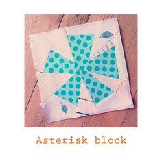 This 8X8 paper pieced asterisk block is a fun, bold pattern. Increase the pattern to make a 16 block, reduce the pattern size to make a 4 block. Make several blocks for a quilt, or a large block for a pillow.