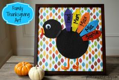 Family Thanksgiving Art, a great project for kids to make for the holiday!