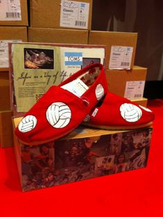 Volleyball Custom Toms by CustomTOMSbyJC on Etsy