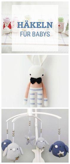 Häkelanleitungen für Babys: Geschenke zur Geburt selbermachen mit unseren Häkelinspirationen / crochet inspiration: crochet patterns for newborns via DaWanda.com