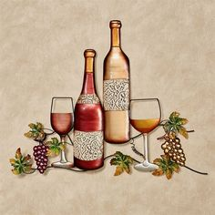All Wine Varieties start from humble grapevine beginnings to grow into lush bottles and glasses of your favorite vintages. Wine wall art has an openwork style. Wine Wall Decor, Wine Wall Art, Wine Art, Wine Theme Kitchen, Chef Kitchen Decor, Kitchen Ideas, Metal Walls, Metal Wall Art, Kitchen Industrial Design