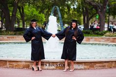 College twins graduation pictures, senior photography, posing