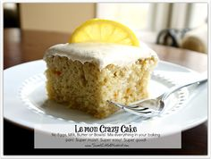 Lemon Crazy/Wacky Cake (also know as Depression Cake) No Eggs, Milk, Butter or Bowls! Super Moist & Good!