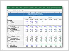 8 Best Financial Statement Model Including Financial Forecasting