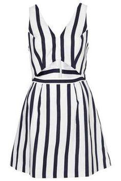 Stripe Cut Out Sun Dress