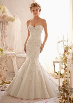 Wedding Dresses, Bridesmaid Dresses, Prom Dresses and Bridal Dresses Mori Lee Wedding Dresses - Style 2623 - Mori Lee Wedding Dresses, Spring Style 2623 Crystal Beaded Embroidery Combined with Venice Lace Applique on Net. Mori Lee Wedding Gowns, Mori Lee Bridesmaid Dresses, Mori Lee Bridal, Lace Mermaid Wedding Dress, Mermaid Gown, Bridal Wedding Dresses, Dream Wedding Dresses, Wedding Dress Styles, Wedding Bride