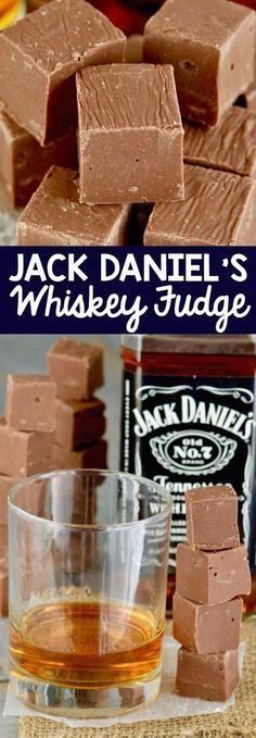 This Jack Daniel's Whiskey Fudge is your favorite liquor and. - Food RecipesThis Jack Daniel's Whiskey Fudge is your favorite liquor and chocolate COMBINED! This easy homemade fudge recipe with condensed milk comes together in about five minutes! Candy Recipes, Sweet Recipes, Holiday Recipes, Dessert Recipes, Holiday Ideas, Drink Recipes, Holiday Baking, Christmas Baking, Christmas Fudge
