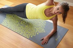 Gaiam's Premium Citron Sundial Yoga Mat (5mm) provides the highest level of cushioning without sacrificing an ounce of performance. Made for demanding Ashtanga and power yogis, the extra thick mat supports your body while the textured, nonslip surface ensures a strong grip.