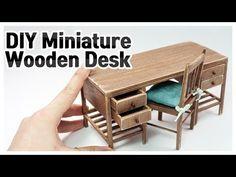 미니어쳐 책상 만들기 | 서랍과 선반이 있는 테이블 | DIY 인형 가구 제작 | 비쥬TV - YouTube