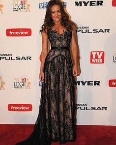 Michelle Bridges wearing Paolo Sebastian to the 2013 TV Week Logie Awards Stunning Dresses, Nice Dresses, Prom Dresses, Gorgeous Dress, Evening Dresses, Beautiful, Night Outfits, Fashion Outfits, Women's Fashion