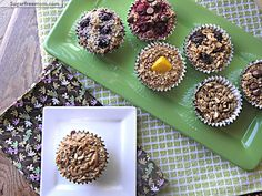Baked steel cut oatmeal cups
