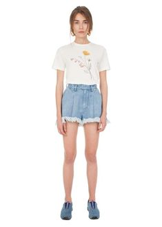 T-shirt With a Flower Print N2