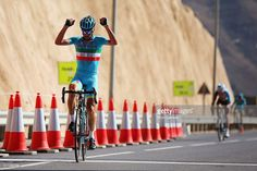 Vincenzo Nibali of Italy and the Astana Pro Team crosses the line to win stage four of the 2016 Tour of Oman, a 177km road stage from Knowledge Oasis Muscat to Jabal Al Akhdhar (Green Mountain) on February 19, 2016 in Jabal Al Akhdhar, Oman. ‪#‎TOO2016‬ #rm_112