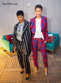 Keke Palmer and Zendaya, via The YBF. // I dig their suits!