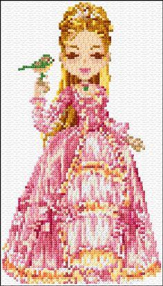 Cross Stitch   Pink Princess xstitch Chart   Design