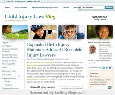 Child Injury Laws : Jonathan Rosenfeld : Rosenfeld Injury Lawyers : Medical Malpractice, Cerebral Palsy & Personal Injury Lawyer - Click to visit blog:  http://1.33x.us/ItRoKY