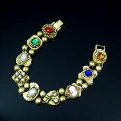 SOLD! Victorian Revival Bracelet Vintage Slide by ClarasChicBoutique
