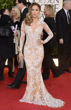 jennifer lopez - jlo at the academy awards 2013 - stunning classic vintage inspired look!!!