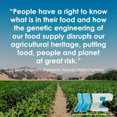 We have a right to know what's in our food!  #nogmo